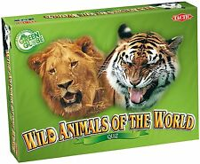Wild Animals of The World Game Quiz- 200 Playing Cards