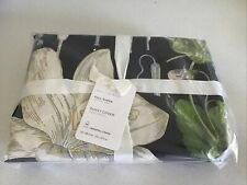 Pottery Barn Black Multi Poppy Cotton DUVET COVER Full/Queen New with Tags