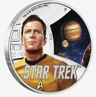 2019 STAR TREK, Kirk & Jupiter 1oz Silver Proof Coin - Perth Mint
