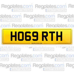 HO69 RTH - Cherished Car Number Personalised Reg Private Plate HOGARTH