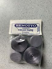 NOS Vintage Benotto Gray Road Bike Handlebar Tape with Plugs