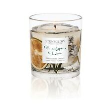 Stoneglow EUCALYPTUS & LIME Botanical Gel Tumbler with scented wax candle GIFT