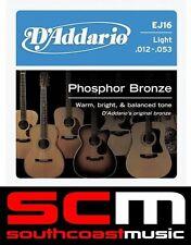 5 x D'ADDARIO EJ16 STRING SET DADDARIO PHOSPHOR ACOUSTIC GUITAR STRINGS 12 - 53