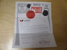 Vintage 1974 Wickes Furniture sales flyer for private sale, Pittsburgh PA