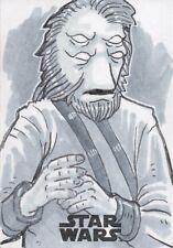 Star Wars A Solo Story, Artist sketch Card by ' Fredd Gorham'