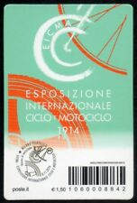 ITALIA 2016 TESSERA FILATELICA ESPOSIZ. MONDIALE CICLO E MOTOCICLO N. 1725/3999