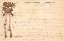 A9830) WW1 FRANCHIGIA PRIVATA, CARTOLINA DI GUERRA CAMPAGNA 1915, 11 BERSAGLIERI