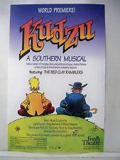 KUDZU Herald WORLD PREMIERE MUSICAL Ford's Theatre WASHINGTON DC 1998