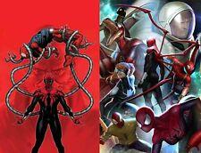 Spider-Geddon 4 Main + In-Hyuk Lee Connecting Variant Set Marvel 2018 NM 11/21
