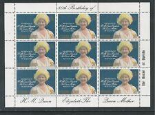 PITCAIRN ISLANDS # 193 THE QUEEN MOTHER'S 80TH BIRTHDAY Miniature Sheet