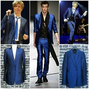 UltraRare & Gorgeous Dior Homme SS03 Hedi Slimane Blue Silk Suit