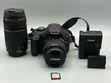 CANON EOS REBEL T7 DSLR CAMERA WITH 18-55mm/ 75-300mm LENS.