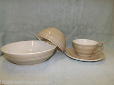 Wedgwood JASPER CONRAN CASUAL BISCUIT Breakfast Cup & Saucer Pasta Cereal Bowls