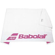 Babolat Towel White w/Pink 50x100cm - Logo - Sports - Tennis - Badminton Squash