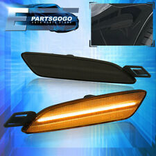 For 15 19 Porsche Cayenne 958 Front Amber Led Smoked Side Markers Lights Lamps