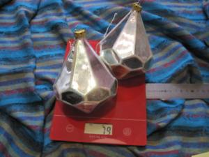 2 grandes boules de Noël en verre hauteur 13 cm/9 cm vintage 50/60.Christmas