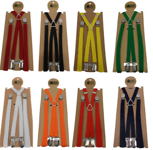 Mazeys Classic 1/2 Inch Mod Skinhead Fully Adjustable Braces Lots of Colours