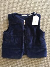 BNWT Girls Country Road Royal Blue Velvet Quilted Vest Size 4-5 RRP $79