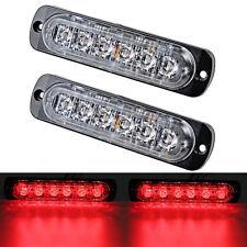 2x 6 LED Car Truck Emergency Beacon Warning Hazard Flash Strobe Light Bar Red