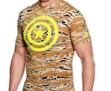 Under Armour Alter Ego Captain America Compression Camo T-Shirt, NWT - Mens Med