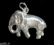 ENGLISH STERLING SILVER Charms Elefante 3D