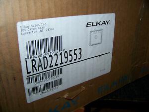 Elkay Gourmet Single Bowl Sink 3 Hole Stainless Steel LRAD2219555 New