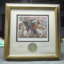 """Emmett Kelly """"Catch the Brass Ring"""" Gold Framed Print 414 of 5000 Leighton-Jones"""