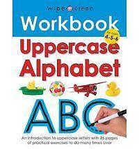 Wipe Clean Work Books: Uppercase Alphabet (Spiral-bound), 9781849151528, Roger .