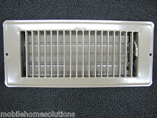 "Mobile Home RV Parts Floor Register 4""x10"" Brown Metal Floor Vent Air Diffuser"