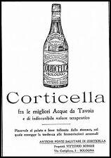 PUBBLICITA' 1921 CORTICELLA ACQUA MINERALE WATER FONTI SALUTE V.BORGHI BOLOGNA
