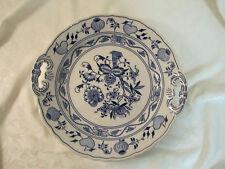 "Blue Onion Serving Plate Zwiebelmuster Bohemia Made in Czech Republic almost 11"""