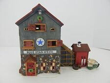 Dept 56 New England Village Blue Star Ice Co. #56472 Never Displayed