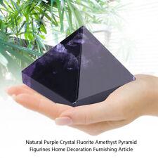 Natural Purple CrystalFluorite Amethyst Pyramid Figurines Home Decoration