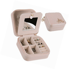 Jewelry Box, Csinos Portable Travel Jewelry Case Earring Holder Necklace Organiz