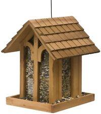 Perky Pet Bird Feeder Feeding Station Seed Wildlife Garden Hanging Wood Outdoor