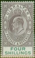 Gibraltar 1903 4s Dull Purple & Green SG53 Fine & Fresh Lightly Mtd Mint (7)
