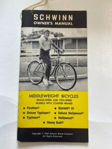 1969 Schwinn Middleweight Bicycles MANY MODELS Bicycle OWNERS MANUAL