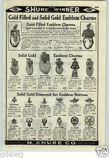 1926 PAPER AD Moose Elk Lodge Emblem Charms Walrus Tooth