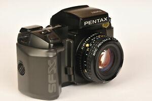 Pentax SFX 35mm Film SLR Camera with SMC Pentax A 50mm f/1.7 Manual Focus Lens