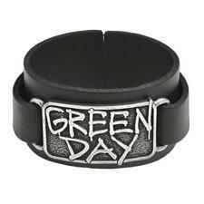 Alchemy Rocks Green Day Rock Band Logo Leather Cuff Wristband Bracelet HRWL449