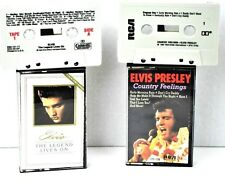Elvis Presley The Legend lives on 1986 RCA Cassette Tapes Country Feelings 1987