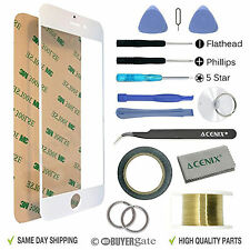 Apple iPhone 6S + Plus Replacement Screen Front Glass Repair Kit WHITE