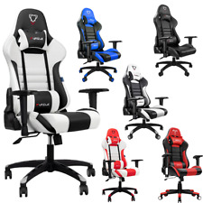 Gaming Computer Chair Office Adjustable 180 Degrees For Faux Leather Racer Back
