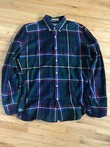 J.Crew Thomas Mason Brushed Cotton Flannel Slim Mens Size Medium