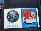 1970's Schlitz 3D Plastic Beer Sign NOS Take Home Six Pack 12 Oz Bottles