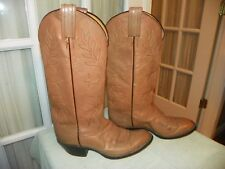 Vintage Tony Lama Black Label Light Brown Cowboy Western Boots Womens size 5.5 B