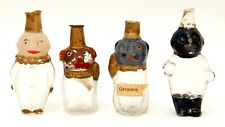 EARLY 1900's GERMANY BLOWN GLASS FIGURAL CANDY CONTAINERS ORNAMENTS FIGURES