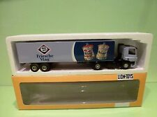 LION CAR DAF 75 CF 310 TRUCK + TRAILER - FRIESCHE VLAG - 1:50 - GOOD IN BOX