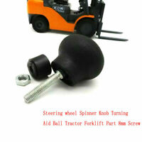 8mm Screw Steering wheel Spinner Knob Turning Aid Ball Tractor Forklift Black