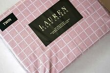 NEW Ralph Lauren TWIN SHEET SET 3pc Red white dots squares